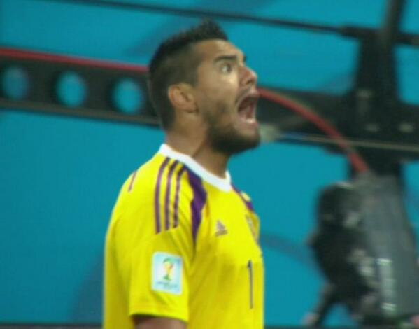 Sergio Romero is PUMPED.  Argentina is ONE game away from a World Cup Title. #NEDvsARG http://t.co/n1RFjUFqhT