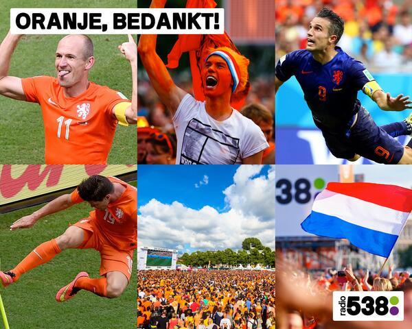 Oranje, bedankt! #WK2014 #NEDARG #radio538 http://t.co/YZhFbxdL1P