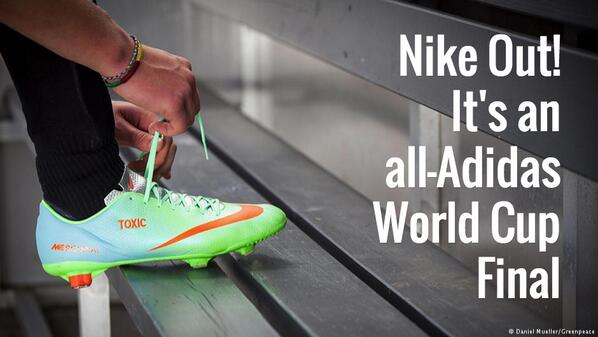 Nike Out!  It's an all-Adidas World Cup Final http://t.co/KfUDJhb62M http://t.co/G9MahtqGKe