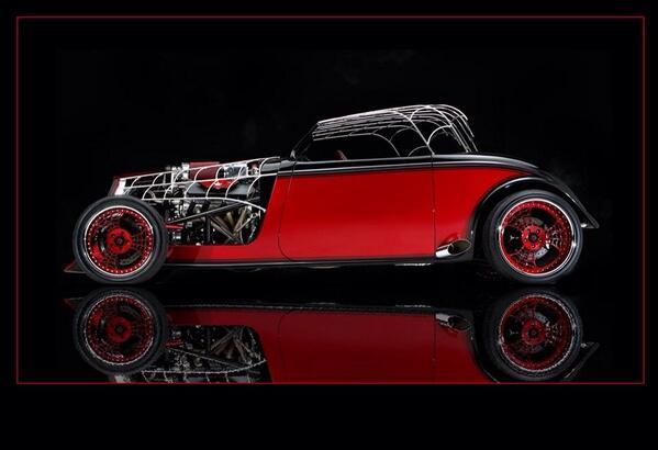 The Black Widow car. http://t.co/Y9aF4BEbYD