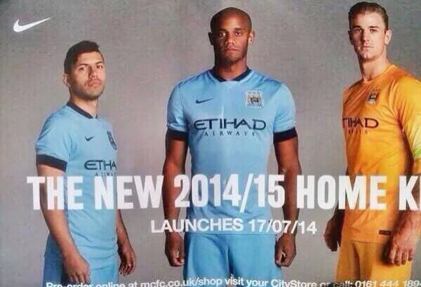 Pic: Manchester City's new home kit is all but confirmed