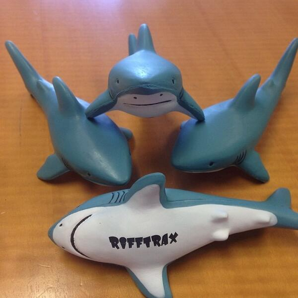 Follow and ReTweet to win one of these sharks! RiffTraxLive: SHARKNADO tix for Thursday night http://t.co/gKk3Jeb4Ih http://t.co/sF8sbvmLxG