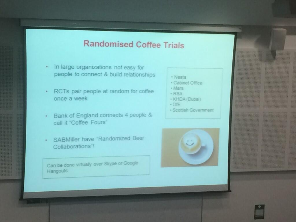 Twitter / suebecks: Love the idea of randomised ...