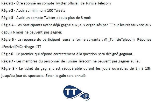 tunisie telecom on twitter voici les r gles du jeu. Black Bedroom Furniture Sets. Home Design Ideas