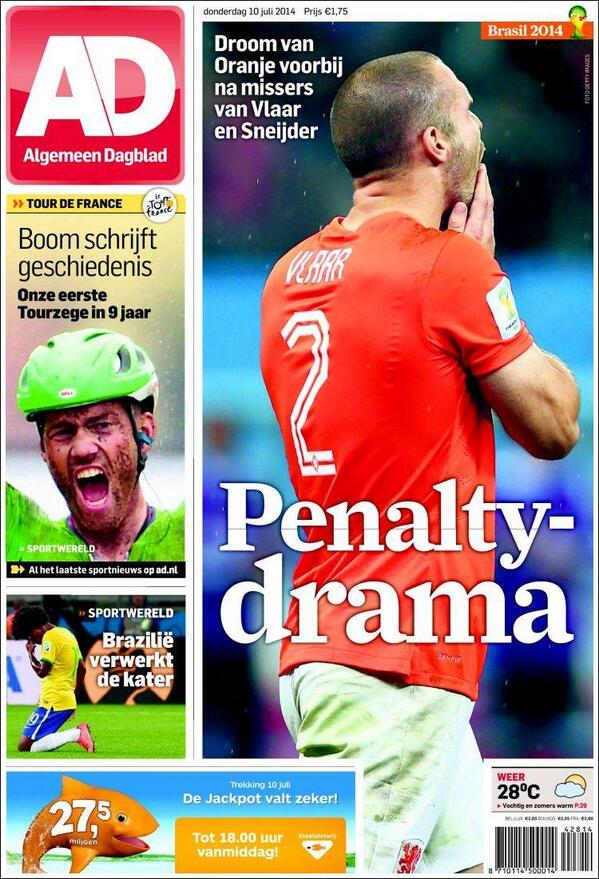 """#MaximaTristeza #Ned #ARG La tapa de AD """"Penalty-Drama"""""""