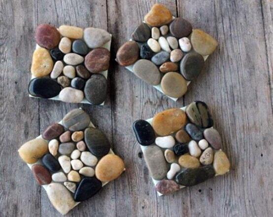 декоративные камушки в интерьере фото