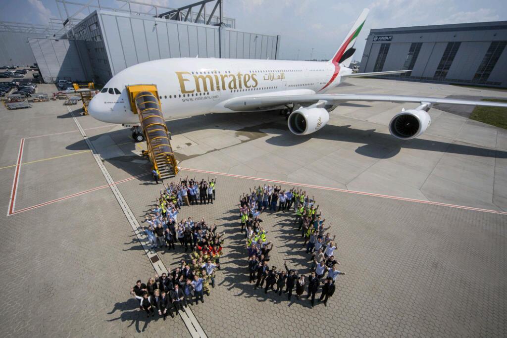 Airbus A380 número 50 da Emirates