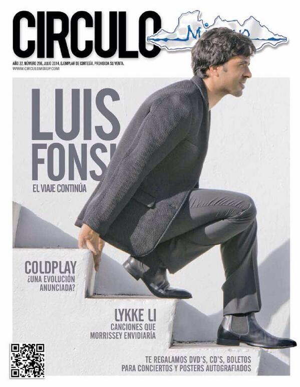 .@luisfonsi es portada de la edición de julio de @CirculoMixup