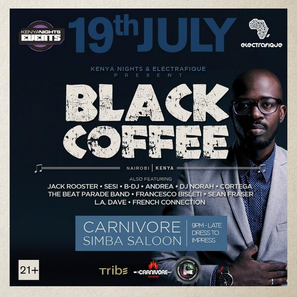 """@KenyaNights: Save the date, make a plan!! It's @RealBlackCoffee finally coming to KENYA! http://t.co/MiVonsD7BP"""
