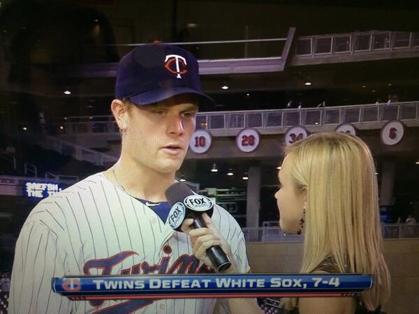 #tbt One of my favorite players to interview. Great player, better person. So #VoteMorneau to get him back to TF!! http://t.co/99x6w9xFUz