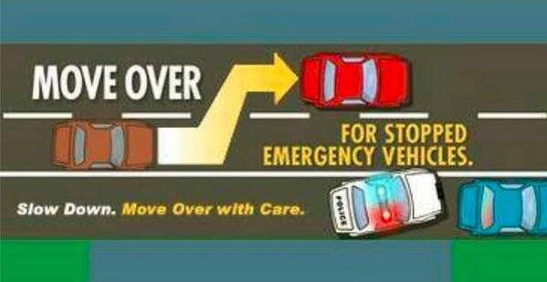 Move over! Officers being struck and killed is a major cause of law enforcement deaths.  #MoveOver http://t.co/P1gg7TUM3v