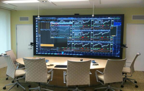 The largest plasma TV in the world allows our Fund Managers to watch the markets while in meetings!#WhatWouldYouWatch http://t.co/7E9XUgB5SR
