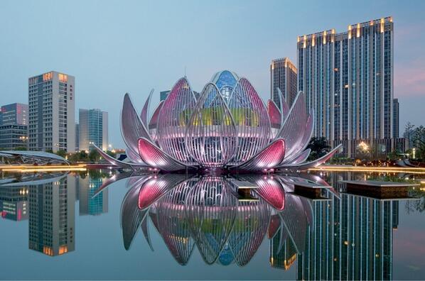 China ganha edifício em formato de flor-de-lótus. http://t.co/oBGV46E7Qk http://t.co/0Waa1swLpa