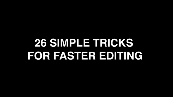26 Simple Tricks For Faster Editing in #PremierePro CC: http://t.co/xaDWEe02YK   (via @Derek_Lieu) #PremierePro http://t.co/i44MZFpBRk