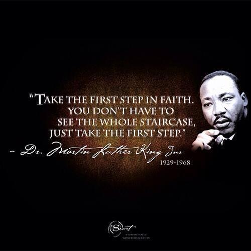Image result for take the first step in faith