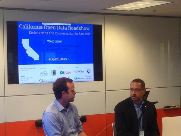 #OPENDATA: Director @kishrajan & @brianpurchia talking about tech impact on CA's economy. http://t.co/opSGpEUh7A