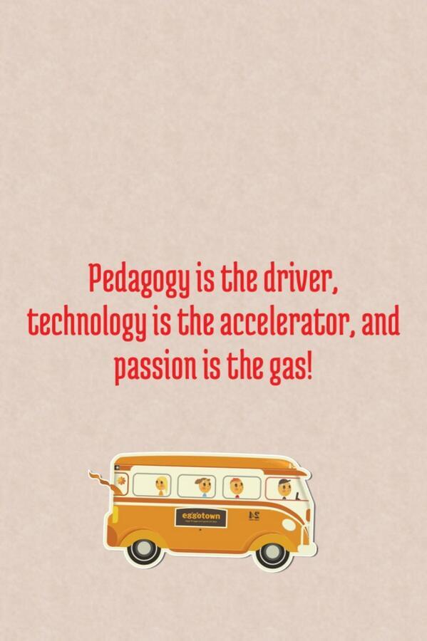 Pedagogy is the driver, tech is accelerator, passion is the gas! mt @pgeorge #rscon5 http://t.co/zNiktFuAfl