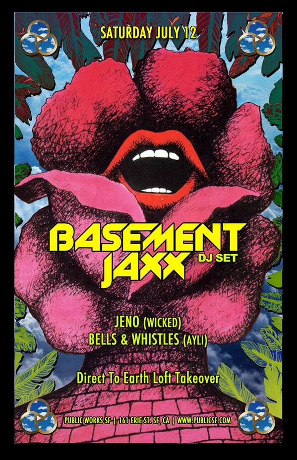 WHERE'S YOUR HEAD AT?!? Giving away 2 tix to see @TheBasementJaxx this Saturday! Just RT this to enter. :) http://t.co/JImVXmqVIu