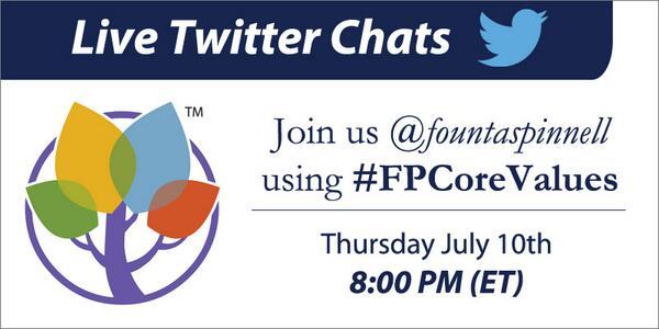 Thumbnail for Fountas & Pinnell #FPCoreValues Chat for July 10, 2014