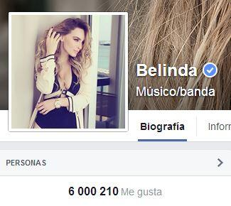 ¡Oficialmente @belindapop llega a los 6 millones en http://t.co/2kASodLFTW felicidades! http://t.co/cOaeDI2v5j