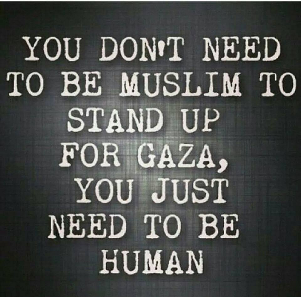 Be human. Have a heart! Don't be blinded by all the lies of media. #FreePalestine #GazaUnderAttack http://t.co/Fme41f6bJC