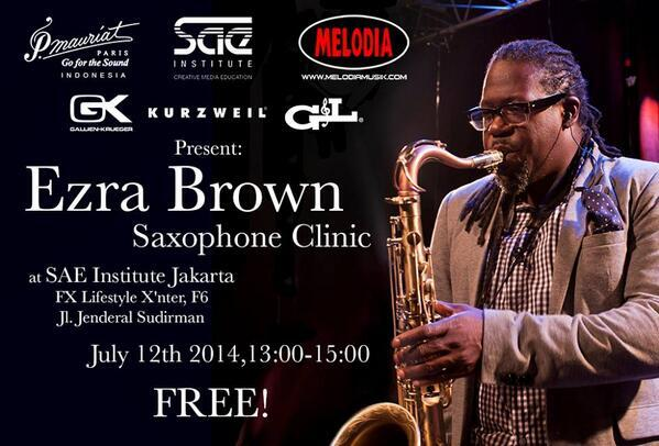 TODAY-I'm Doing a Saxophone clinic at @SAEjakarta (Thankyou @PMauriatID @BarryLikumahuwa http://t.co/92wAIfWaOh