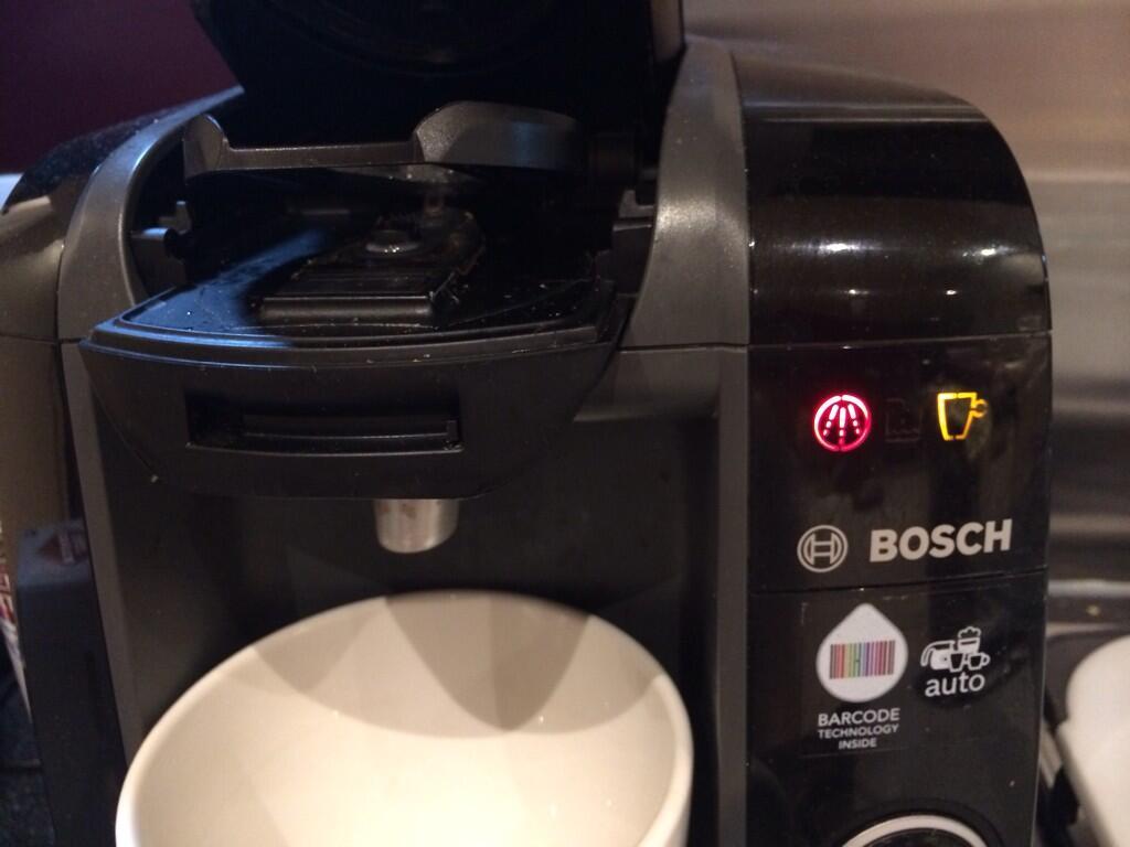 %name Bosch Tassimo Coffee Maker Red Light