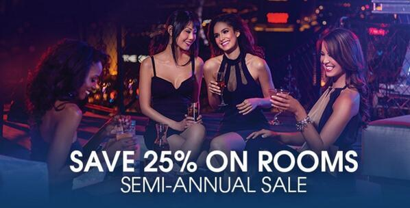 Dreaming about your next Vegas trip? Book our Semi-Annual Sale NOW & get 25% off room rates: http://t.co/mLJVQA4PmG http://t.co/Sj1VzYQ1Jc