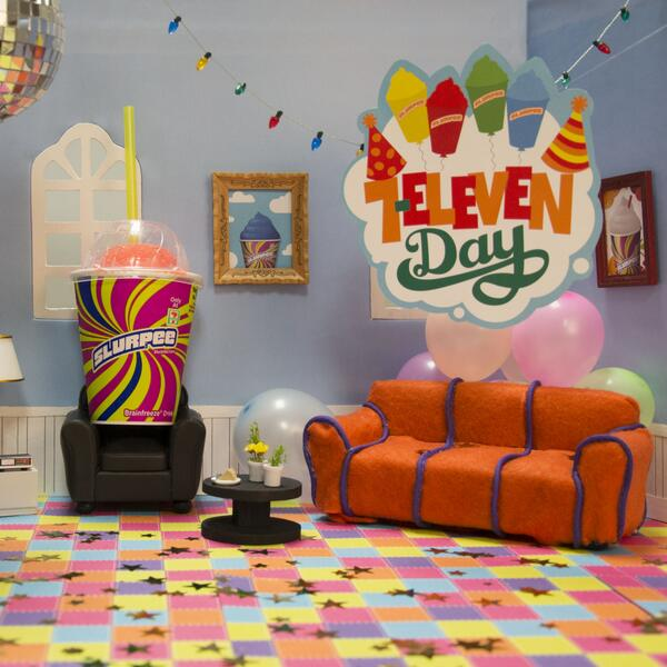 It's #7ElevenDay: get your free small Slurpee! It's recognized universally (by us) as a get-out-of-work-free card. http://t.co/mJNZhN2VKD