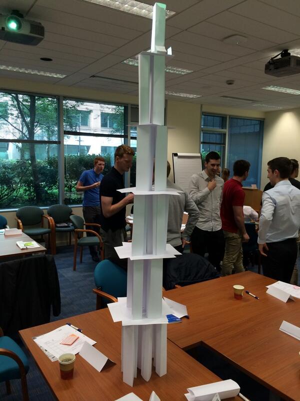 Ellis Lloyd On Twitter KPMG Teambuilding Session Tallest Paper Tower Winners GIP2014 KPMGCampusCDN Tco 14tGILcWpx