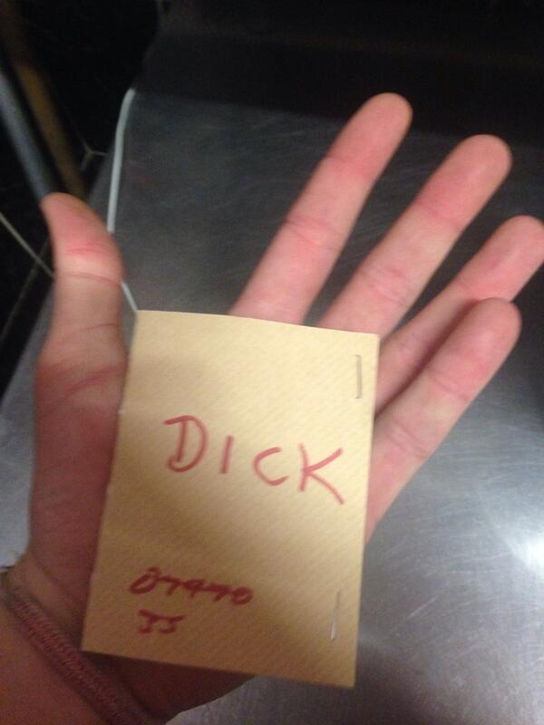 your hand in Dick
