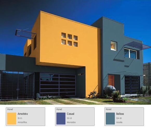 Comex on twitter comextip una fachada de contrastes for Colores modernos para fachadas