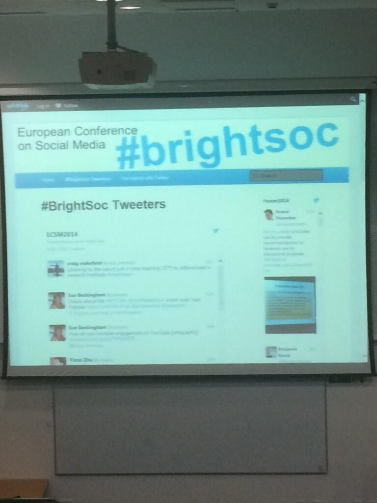 Twitter / suebecks: European Conference on Social ...