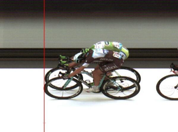 The Tour de France's photo finish was closer than you can imagine