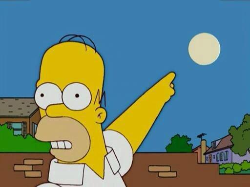 Image result for Homer Simpson the moon