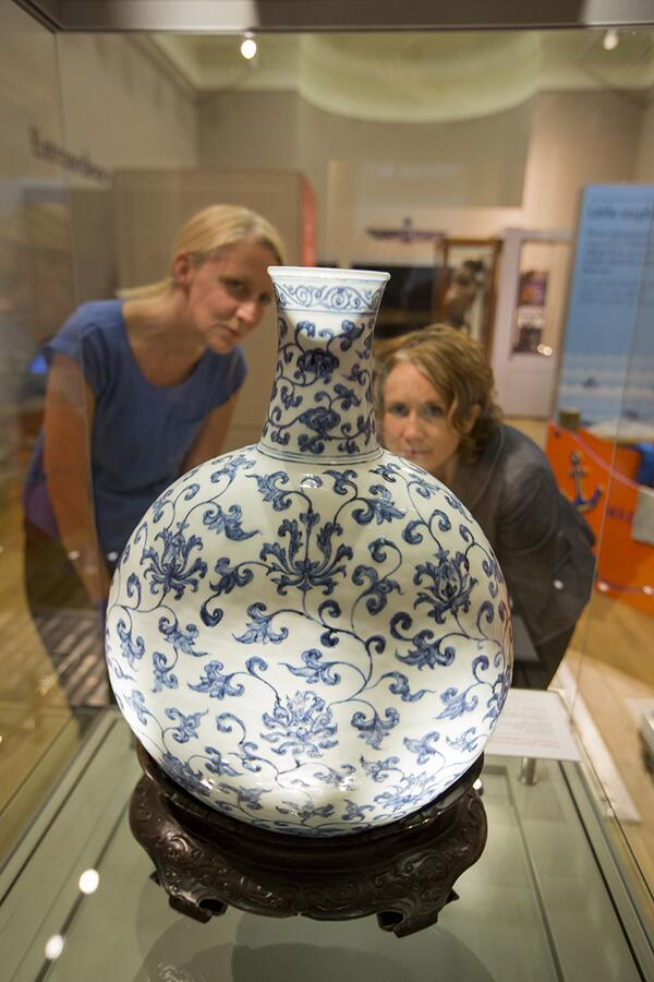 OPENS TOMORROW: Our new Made in China display at Weston Park, inc this stunning @britishmuseum 15th century Ming vase http://t.co/aMsKLmBGvI