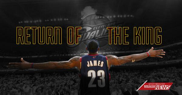 BREAKING: LeBron James is signing with the Cleveland Cavaliers. (via @SInow) http://t.co/x9mFMPbz3t
