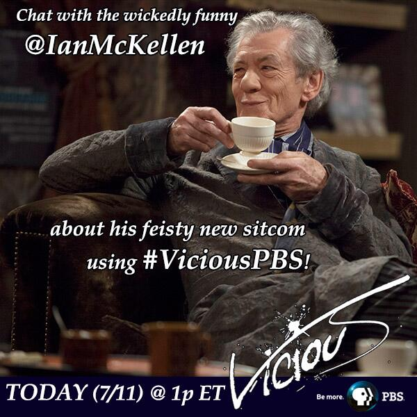 Thumbnail for Transcript: Ian McKellen Live Twitter chat about his new PBS series Vicious