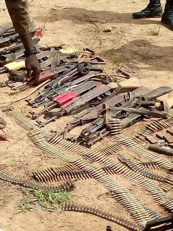 BsRzb ZIcAEkZPD - Balmo Forest Operation: Nigeria troops uncover underground arms (Photos)