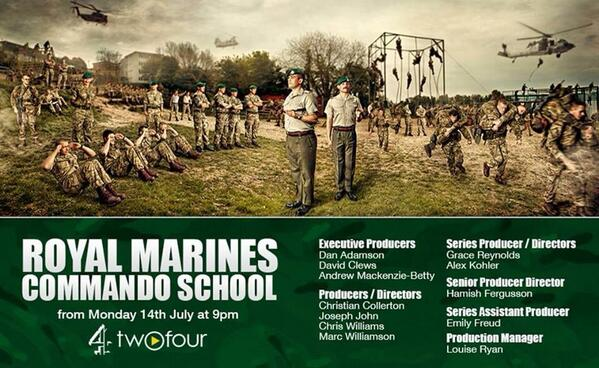 This is going to be awesome! We'll be glued to the telly for Commando Training on Monday! #CommandoSchool #Commando http://t.co/t26Ipu05vB