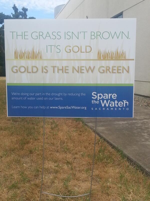 Sacramento has lawn signs for those of you with judgmental neighbors. MT @SpareSacWater http://t.co/S6W9VAx6vL