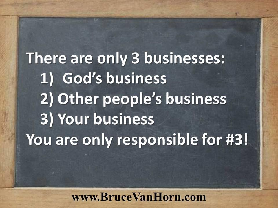 Twitter / BruceVH: There are 3 businesses: 1) ...