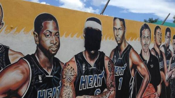 Naturally, Miami fans aren't happy about LeBron's decision. One example: http://t.co/kM09agTwXQ http://t.co/5tMmJrHOmA