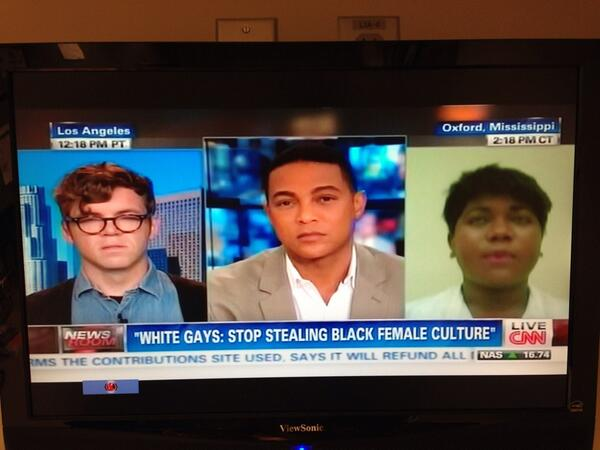 CNN to white gays: Stop stealing black female culture