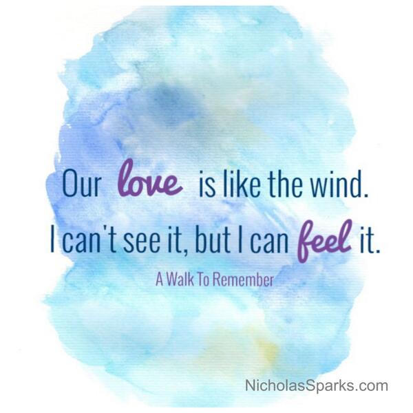a walk to remember quotes our love is like the wind - photo #20