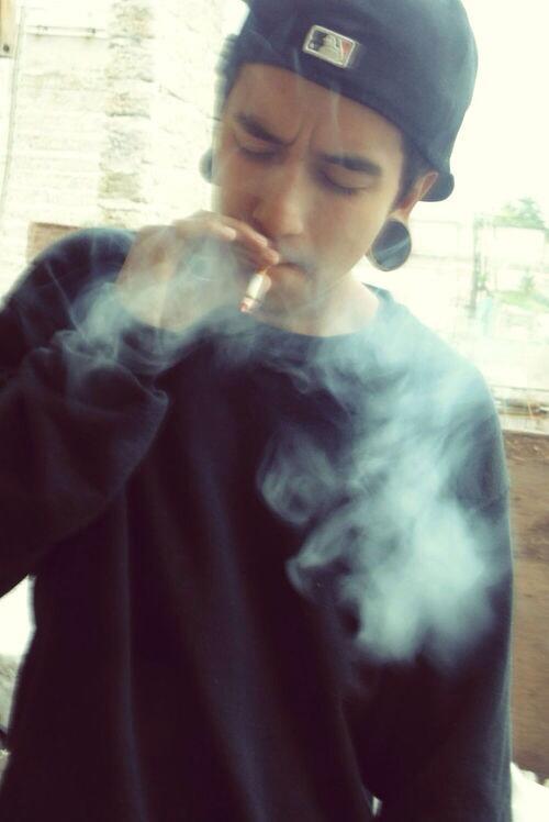 Guys smoking
