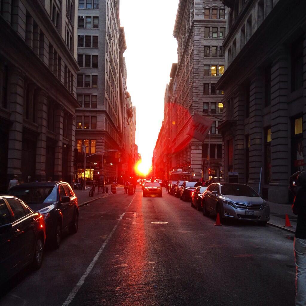 Manhattan Streets: Photo: Manhattanhenge, Where Sunset Lines Up With