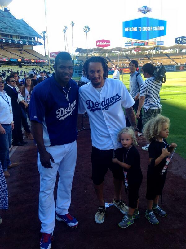 #USMNT @ussoccer @Jermainejunior and #Dodgers All-Star @YasielPuig http://t.co/MHdyzRNM0z