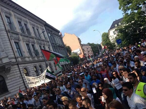 Protest in #Norway #Oslo in solidarity with Palestinians #GazaUnderAttack http://t.co/3UuAiY0sGF