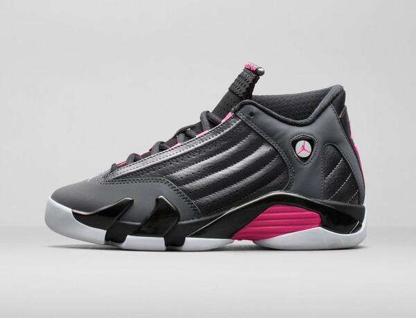 9c3efe8f0326ad ... metallic dark grey black white 0548f 71e4f  germany footaction on  twitter the gs girls air jordan 14 retro hyper pink releases online at